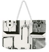 Rolling Mill For Lead Strips Weekender Tote Bag by Photo Researchers