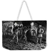 Roman Slavery: Coal Mine Weekender Tote Bag by Granger