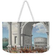 Roman Soldiers Lead Chained Captives Weekender Tote Bag