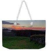 Roman Wall Sunrise Weekender Tote Bag