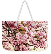 Romantic Cherry Blossoms Weekender Tote Bag