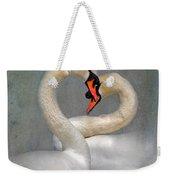 Romantic Image Of Courting Swans Weekender Tote Bag