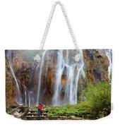 Romantic Scenery By The Waterfall Weekender Tote Bag