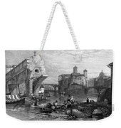 Rome: Ponte Rotto, 1833 Weekender Tote Bag by Granger
