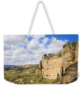Ronda Cliffs In Andalusia Weekender Tote Bag