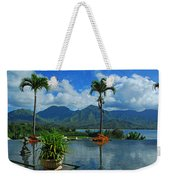 Rooftop Fountain In Paradise Weekender Tote Bag