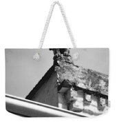 Rooftop Gargoyle Statue Above French Quarter New Orleans Black And White Diffuse Glow Digital Art Weekender Tote Bag by Shawn O'Brien