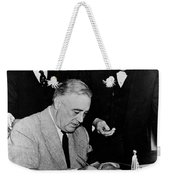 Roosevelt Signing Declaration Of War Weekender Tote Bag