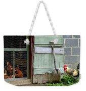 Rooster And Hens Weekender Tote Bag