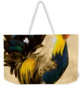 Rooster On The Prowl 2 - Vintage Tonal Weekender Tote Bag