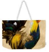 Rooster On The Prowl 2 - Vintage Tonal Weekender Tote Bag