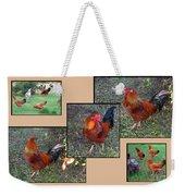 Rooster Red Weekender Tote Bag
