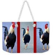 Rooster Triptych Weekender Tote Bag