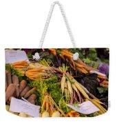 Root Vegetables At The Market Weekender Tote Bag by Heather Applegate