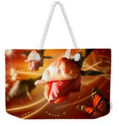 Rose And Butterfly Weekender Tote Bag