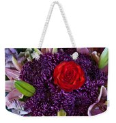 Rose Center Of Attention Weekender Tote Bag