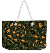 Rose Kaleidoscopic Mirror  Weekender Tote Bag