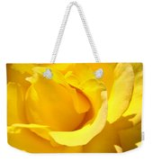 Rose Petal Flower Yellow Colorful Rose Floral Baslee Weekender Tote Bag