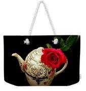 Rose With China Teapot Weekender Tote Bag