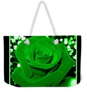 Rose With Green Coloring Added Weekender Tote Bag