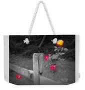 Roses And Fence Weekender Tote Bag