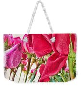 Roses In White Weekender Tote Bag