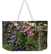 Roses On The Fence Weekender Tote Bag