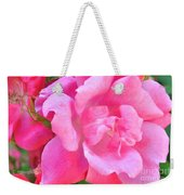 Roses Perfectly Pink Weekender Tote Bag