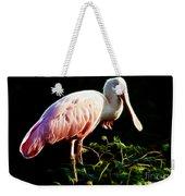 Rosette Spoonbill Shimmering Weekender Tote Bag