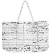 Rossini Manuscript Page Weekender Tote Bag