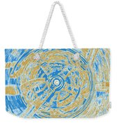 Round And Round Blue And Gold Weekender Tote Bag