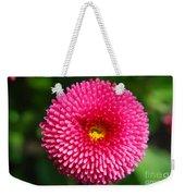 Round Pink Flower Weekender Tote Bag