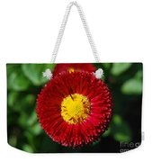 Round Red Flower Weekender Tote Bag