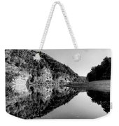 Round The Bend Buffalo River In Black And White Weekender Tote Bag