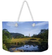 Round Tower In The Forest Glendalough Weekender Tote Bag