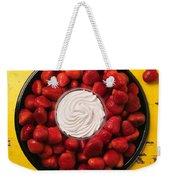 Round Tray Of Strawberries  Weekender Tote Bag