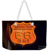Route 66 Addicted Weekender Tote Bag
