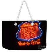 Route 66 Bar And Grill Weekender Tote Bag