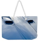 Route 66 Blue Hood Weekender Tote Bag