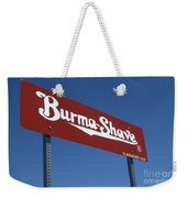 Route 66 Burma Shave Weekender Tote Bag