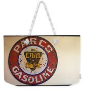 Route 66 Gasoline Sign Weekender Tote Bag