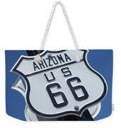 Route 66 Highway Sign Weekender Tote Bag