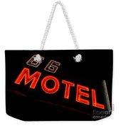Route 66 Motel Neon Weekender Tote Bag