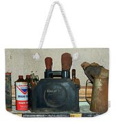 Route 66 Odell Il Gas Station Shelf Items Digital Art Weekender Tote Bag