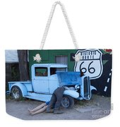 Route 66 Repair Shop Weekender Tote Bag