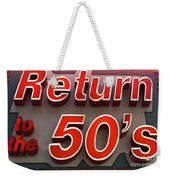 Route 66 Return To The 50s Weekender Tote Bag