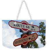 Route 66 Street Sign Weekender Tote Bag