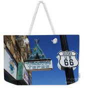 Route 66 Turquoise Tepee Weekender Tote Bag