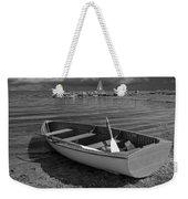 Row Boat On The Shore Of Lake Ontario In Toronto Weekender Tote Bag