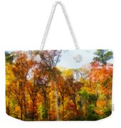 Row Of Autumn Trees Weekender Tote Bag